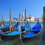 Gondola Parking in Venice — Stock Photo