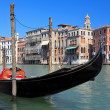Traditional venetian gondola — Stock Photo