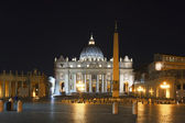 Saint Peter's Square at night — Stock Photo