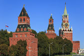 A towers of Kremlin wall, Moscow, Russia — Stock Photo