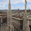 Panoramic view of Milan, Italy - Stock Photo