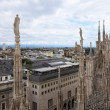 Panoramic view of Milan, Italy — Stock Photo