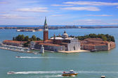 Panoramic view of San Giorgio island, Venice, Italy — Stock Photo