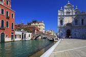 Kanál v Benátkách, Itálie — Stock fotografie
