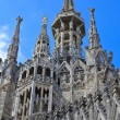 The central spire of a cathedral Duomo, Milan, Italy — Stock Photo