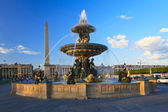 Fountain at the Place de la Concorde, Paris, France — Stock Photo