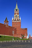 A Spasskaya tower of Kremlin, Moscow, Russia — Stock Photo