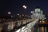 The Cathedral of Christ the Savior and the Patriarchal bridge, M — Stock Photo
