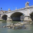 Stock Photo: The Bridge Vittorio Emanuele II, Rome, Italy.