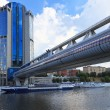 Stock Photo: Pedestribridge Bagration, Moscow, Russia