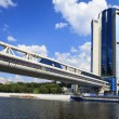 Stock Photo: Pedestrian bridge Bagration, Moscow, Russia