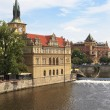 Stock Photo: Vltava river embankment, Prague, Czech Republic