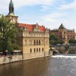 Vltava river embankment, Prague, Czech Republic — Stock Photo #4576079