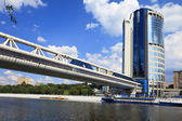 Pedestrian bridge Bagration, Moscow, Russia — Stock Photo