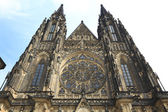 Facade of Cathedral of Saint Vitus, Prague, Czech Republic. — Stock Photo