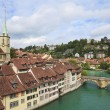 Bridge over Aare river in Bern, Switzerland — Stock Photo