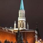 Nikolskaya tower of Moscow Kremlin, Russia — Stock Photo #4662644