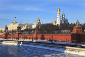 Moscow Kremlin and Moscow river. Russia. — Stock Photo