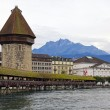 Chapel bridge in Luzerne, Switzerland — Stock Photo