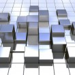 Abstract metal cubes - Stock Photo