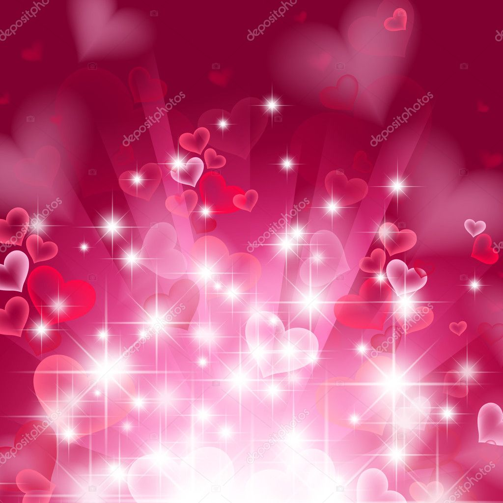 Love bright theme with hearts and stars  Stock Vector #4190876