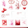 Royalty-Free Stock Imagem Vetorial: Valentine day set