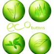 Eco green buttons — Stock Vector