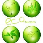 Eco green buttons — Stock Vector