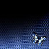 Tech achtergrond met vlinder — Stockvector