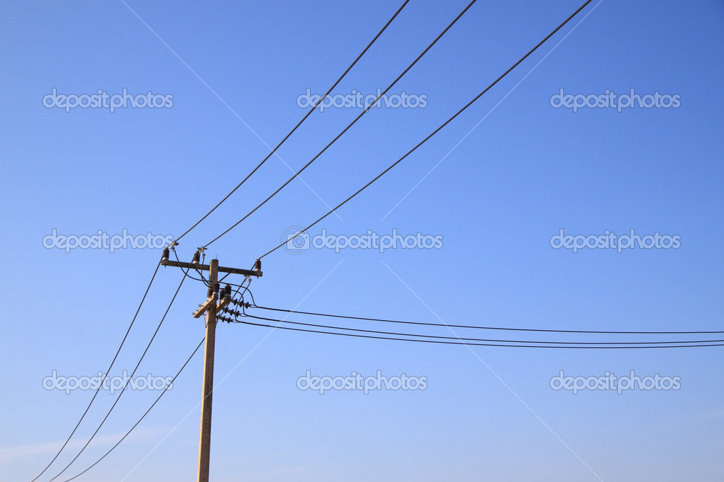 electric pole which separated wire stock photo 169 keerati 4853638