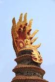 Buddha statue snake — Stock Photo