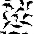 Dolphins - Stock Vector