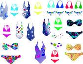 Bikini — Vector de stock