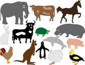 Cartoon animals — Stockvector