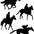 Stock Vector: Jockeys