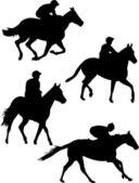Jockeys — Stock Vector