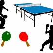 Stock Vector: Ping pong equipment