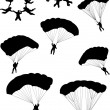 Sky divers — Stock Vector
