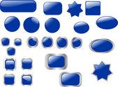Blue buttons — Stock Vector