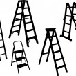 Stock Vector: Ladders