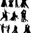 parejas de baile — Vector de stock