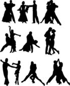 Dance couples — Stock Vector