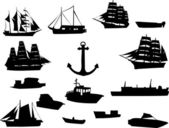 Ships silhouette — Stock Vector