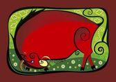 Red bull — Stock Vector