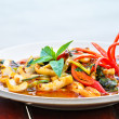 Thai Food Spicy Squid Curry - Foto Stock