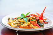 Thai Food Spicy Squid Curry — Foto Stock