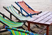 Colorful Thai Beach Chairs — Stock Photo