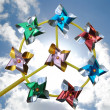 Pinwheel on sky and clouds — Stock Photo