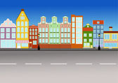 City street (vector) — Stockvektor