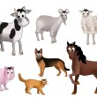 Domestic animals — Stock Vector